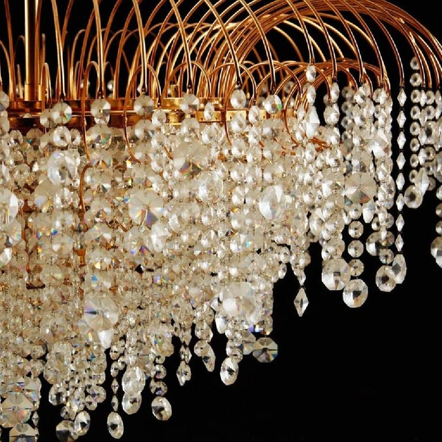 Mid-Century Modern Swedish Vintage Chandelier in Cut Crystal Glass, 1976 For Sale - Image 3 of 5