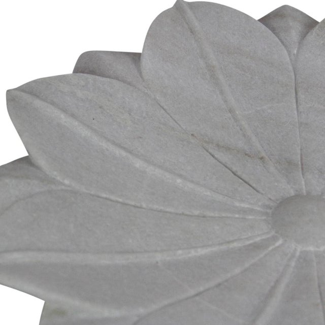 Large Blossoming Lotus Marble Plate - Image 3 of 3