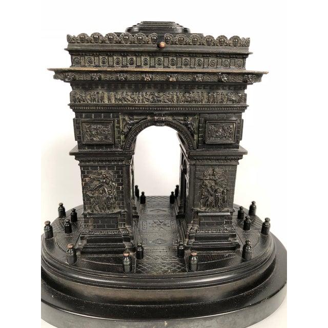 19th Century Grand Tour Bronze Architectural Model of the Arc De Triomphe, Paris For Sale - Image 9 of 12