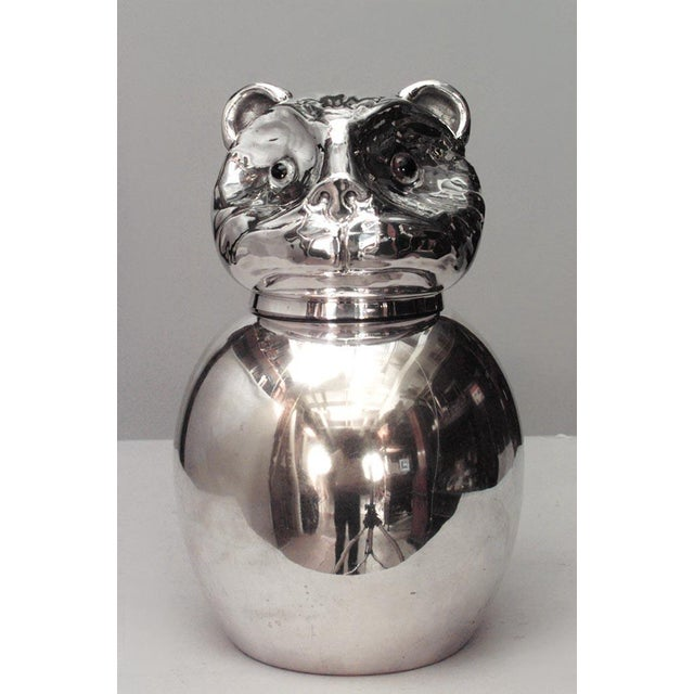 Italian Italian 1940s Style Silver Plated Covered Jar For Sale - Image 3 of 3