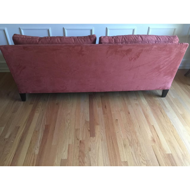 Arhaus Burnt Orange Velvet Sofa - Image 4 of 7