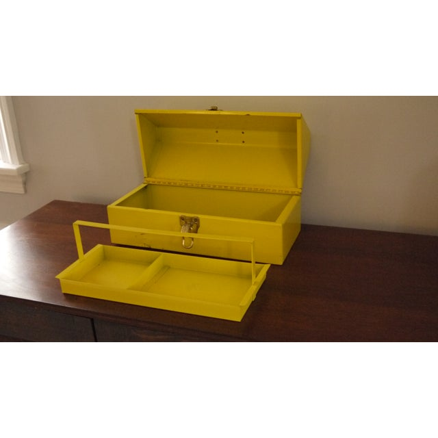 Yellow Metal Toolbox For Sale - Image 4 of 6