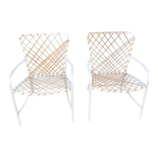 Vintage Brown Jordan Sculptural Tamiami Patio Chairs - a Pair For Sale
