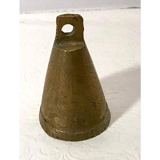 Vintage Mid Century Brass Bell For Sale - Image 4 of 9