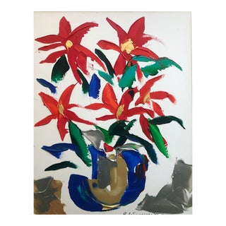 Barbara DeSassure Modern Still Life Painting 1970s For Sale