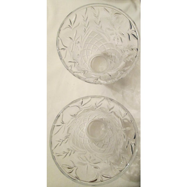 Vintage Cut Glass Light Shade Covers - Set of 6 For Sale In Los Angeles - Image 6 of 13