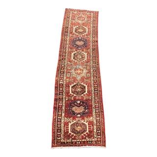 "Vintage Persian Karajeh Runner - 3 'x 12'2"" For Sale"