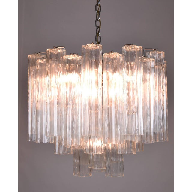 1970s Murano Glass Tronchi Chandelier For Sale - Image 5 of 9