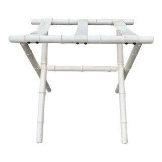 Chippendale Faux Bamboo Luggage Rack For Sale