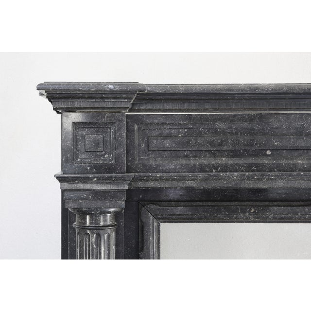 Antique Fireplace - Belgian Bluestone - Neoclassical Style - 19th Century For Sale - Image 4 of 5