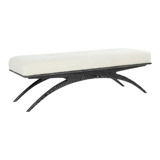 Convex Bench in Creamy Bouclé by Stamford Modern For Sale