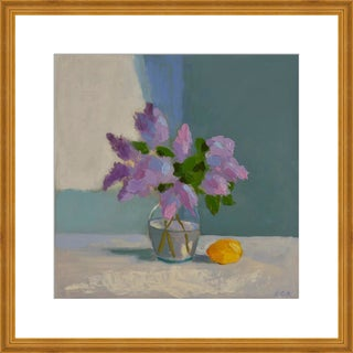 """Medium """"Lilac With Lemon"""" Print by Anne Carrozza Remick, 29"""" X 20"""" For Sale"""