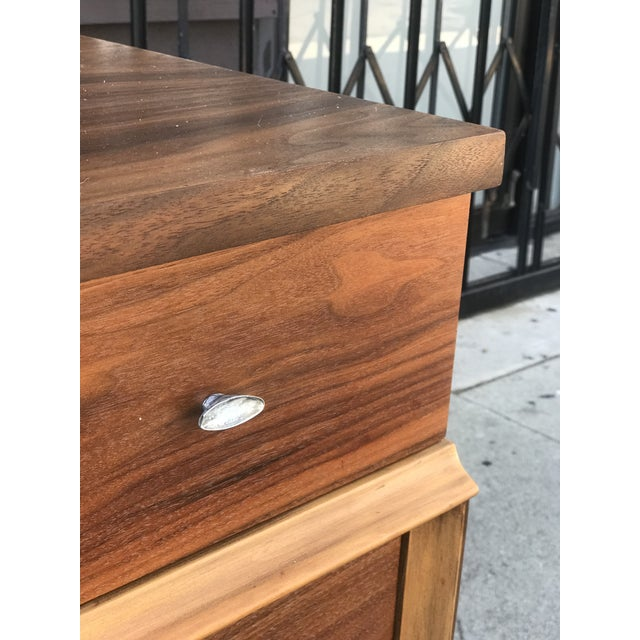 Mid Century Credenza With Metal Pulls For Sale - Image 10 of 11