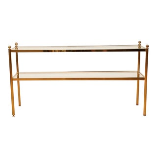 Vintage Maison Jansen Style Two-Tier Sofa Table, 1970s For Sale