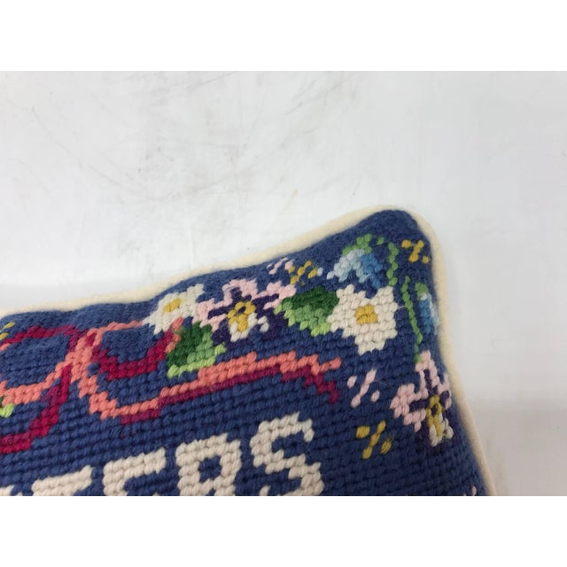 1970s 'Sisters Are Special' Needlepoint Pillow For Sale In Richmond - Image 6 of 8
