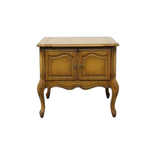 20th Century French Provincial Weiman Storage End/Lamp Table For Sale