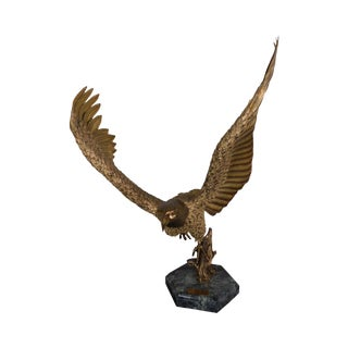 Return to the Sur Coast by Robert Signorella, Sculpture of Baled Eagle in Flight 14/24 For Sale