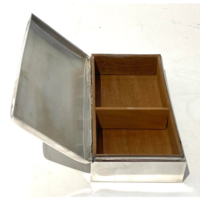 Art Deco 1930s Poole 1899 Epca Box Silver Plated Mahogany Interior For Sale In West Palm - Image 6 of 9