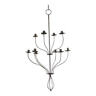 Late 20th Century French Iron Chandelier For Sale