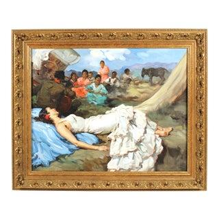 Francesco Rodriguez San Clemente Figural Oil Painting For Sale