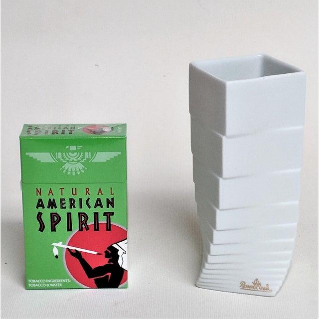 Mid-Century Modern 1970s Mid-Century Modern Hausler-Goltz for Rosenthal White Ceramic Vase For Sale - Image 3 of 11