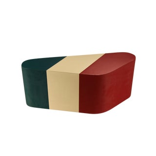 Italian Flag Kidney Shaped Coffee Table