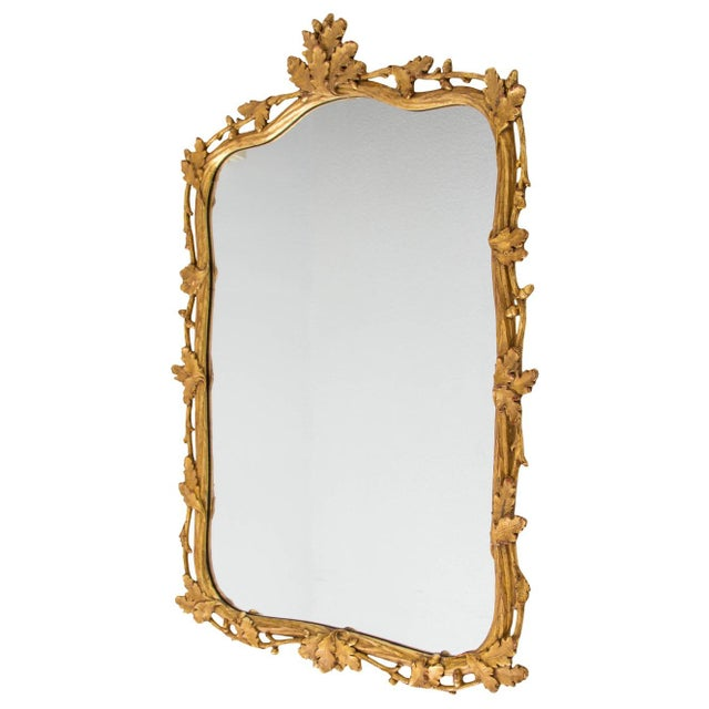 Milch & Son Gilded Oak Leaf Mirror For Sale - Image 9 of 9