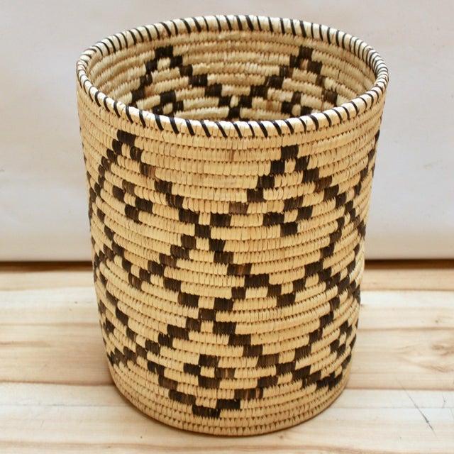 Handwoven Tohono O'Odham Native American Basket For Sale - Image 10 of 10