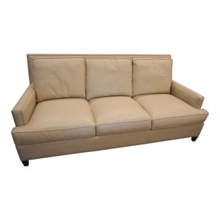 Nailhead Trim Leather Sofa For Sale