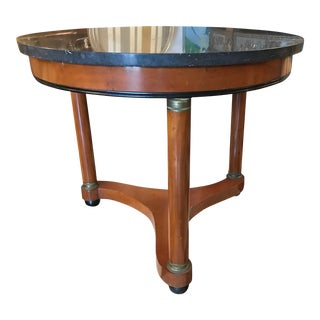 1950s Empire Style Marble Top Table For Sale