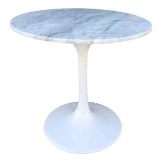 Modern Marble Tulip Side Table For Sale