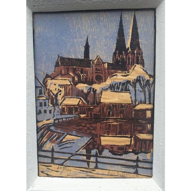 Original Block Print by Eric Lundberg 1953 For Sale - Image 4 of 8