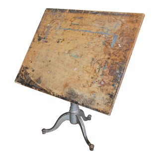 Antique American Drafting Table For Sale