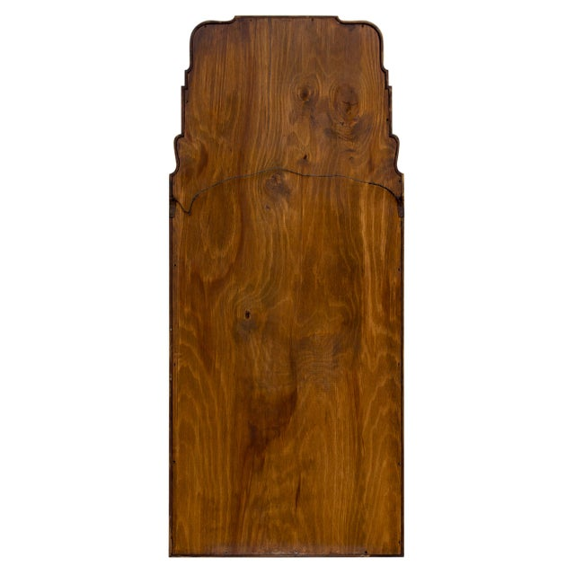 Wood Large Queen Anne Divided Plate Mirror For Sale - Image 7 of 12