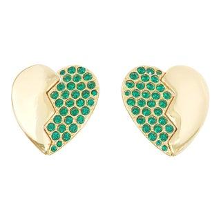 Heart Clip-On Earrings by Yves Saint Laurent For Sale