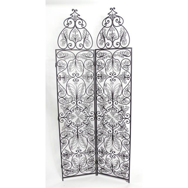 Moroccan Wrought Iron Room Screen - Image 3 of 6