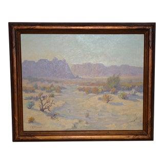 """""""Red Mesa, Az"""" Original Desert Landscape Painting C.1940s For Sale"""
