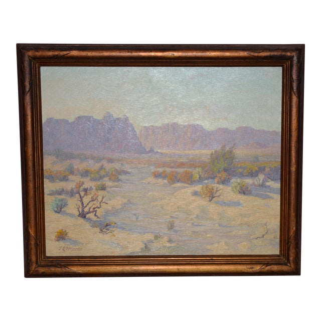 """Red Mesa, Az"" Original Desert Landscape Painting C.1940s For Sale"