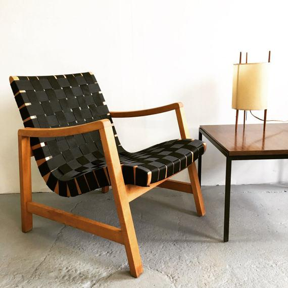 Jens Risom Webbed Lounge Chair - Image 2 of 6