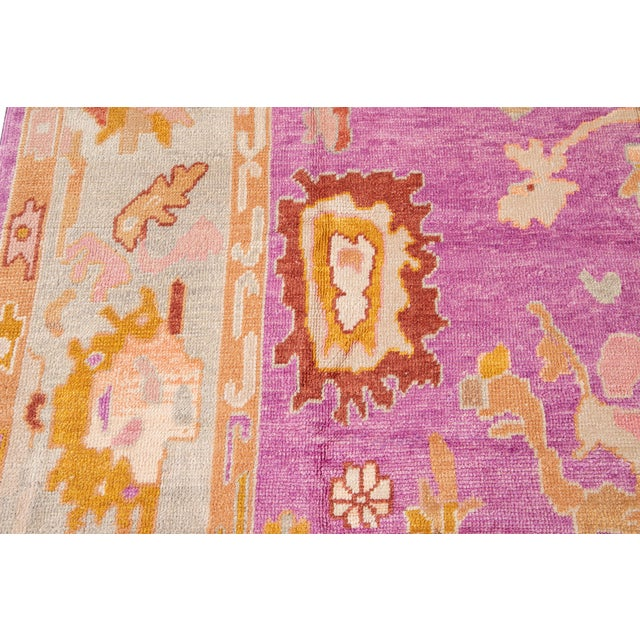 21st Century Contemporary Modern Oushak Wool Rug For Sale - Image 10 of 13