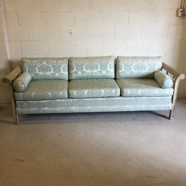 Palm Beach Regency Dorothy Draper Style Fretwork Sofa - Image 2 of 12