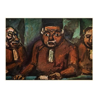 """1950s Georges Rouault """"Three Judges"""", First Edition Period Expressionist Lithograph For Sale"""