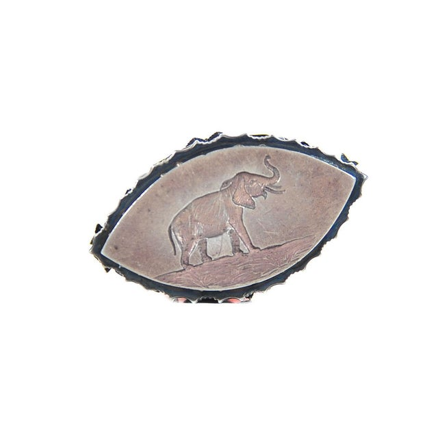 19th C. Russian Sterling Mounted Rose Quartz Seal For Sale - Image 9 of 9