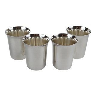 20th Century Sterling Silver Shot Glasses - Set of 4