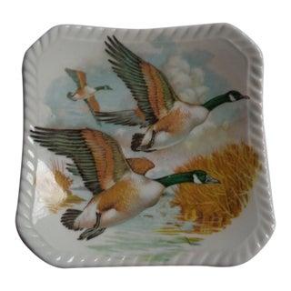 Royal Adderley Mid-Century Bone China Ducks Trinket Tray For Sale