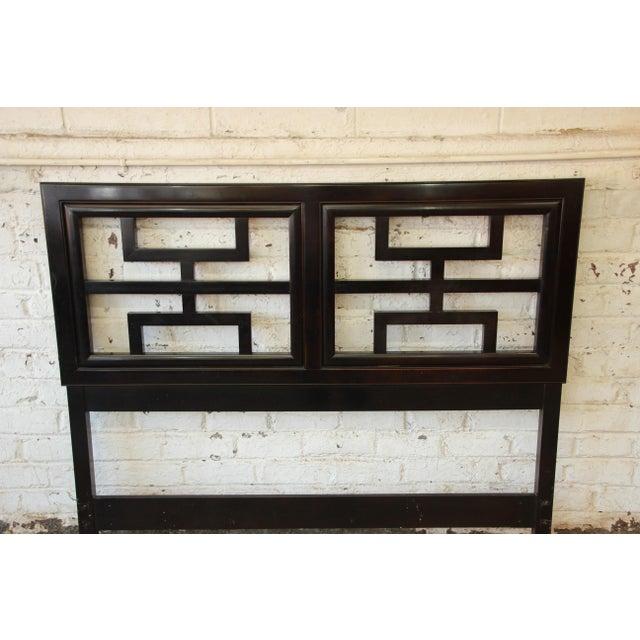 Century Furniture Chin Hua Black Lacquer Full Size Headboard - Image 4 of 6