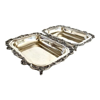 Mid 20th Century Sheffield Silver Serving Dishes - a Pair For Sale