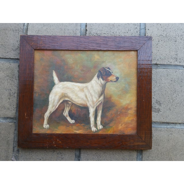 Jack Russell Oil Painting - Image 2 of 5