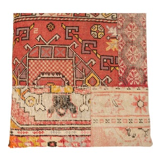 Vintage Designer Wool Patchwork Floor Pillow For Sale