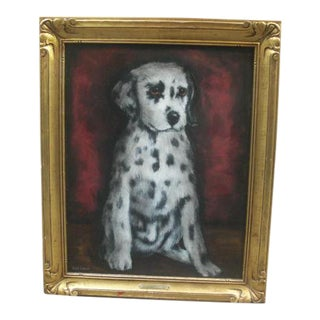 Dalmatian Puppy Portrait Painting by Nicky Caplan For Sale